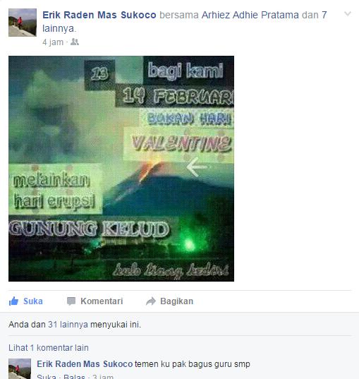screen akun facebook Sukoco.
